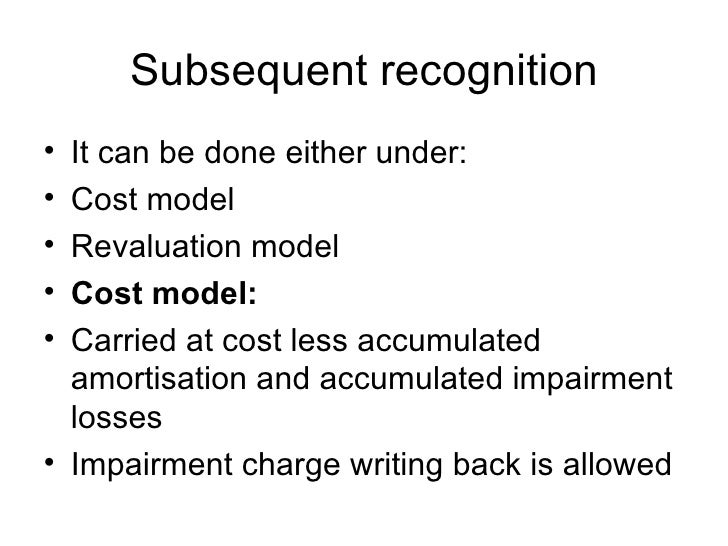 impairment loss revaluation model example