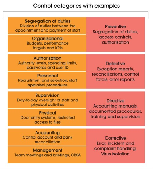 example of control risk audit