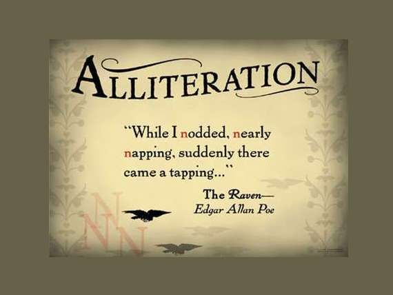 example for alliteration in literature
