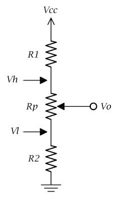 voltage divider example for potentiometer