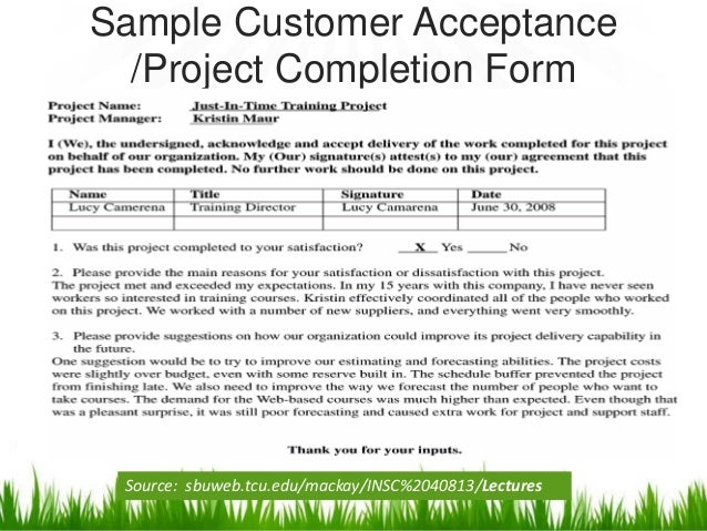 example of evaluation report on a project