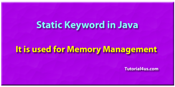 what is static in java with example
