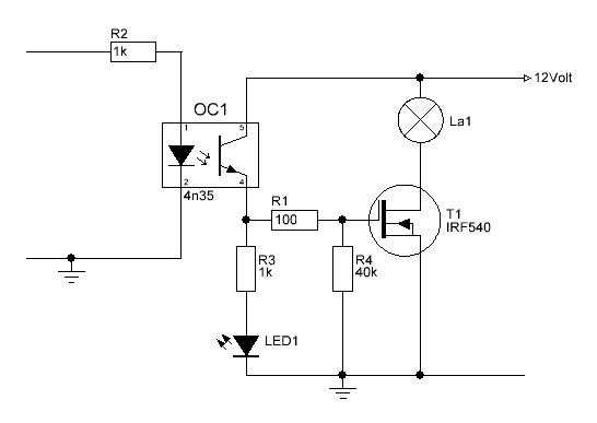 example of not logic gate irl