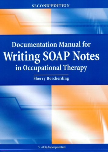 example of an occupational therapist soap note