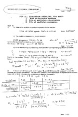 equilibrium constant example problems with answers
