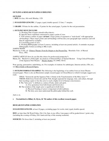 example of research paper outline mla