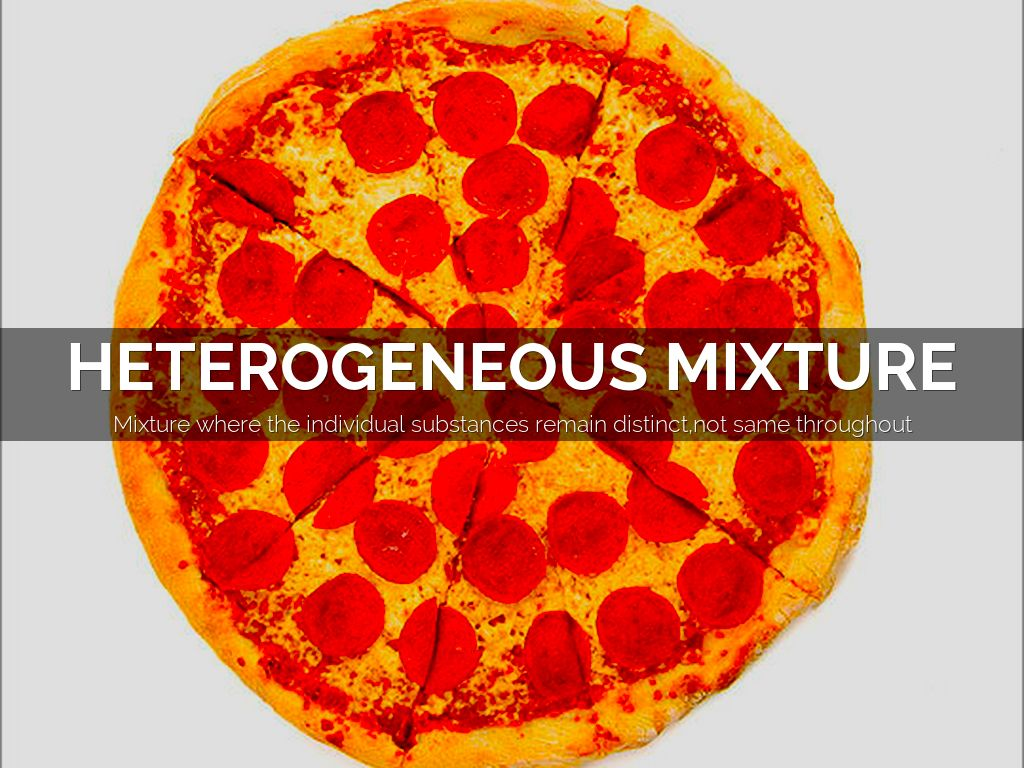what is a example of a heterogeneous mixture