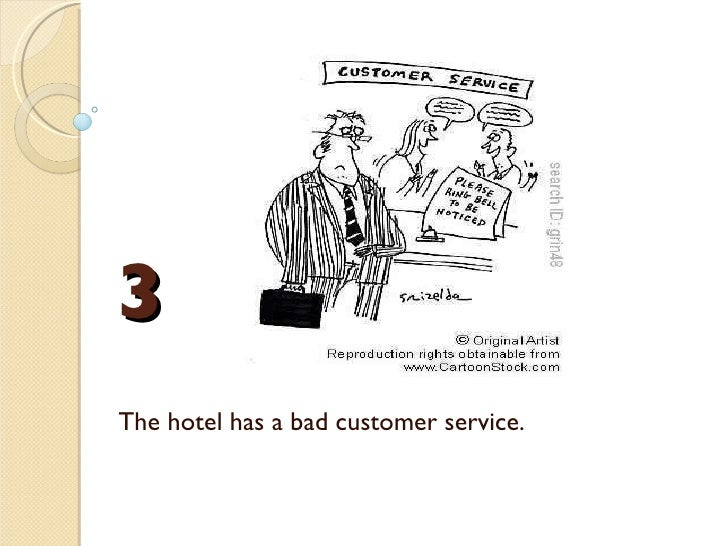 example dialogue complaint in hotel