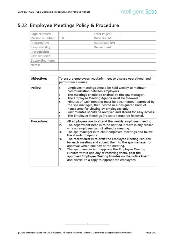 customer service policies and procedures example