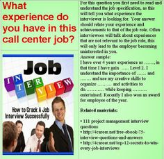 example of call center interview questions and answers