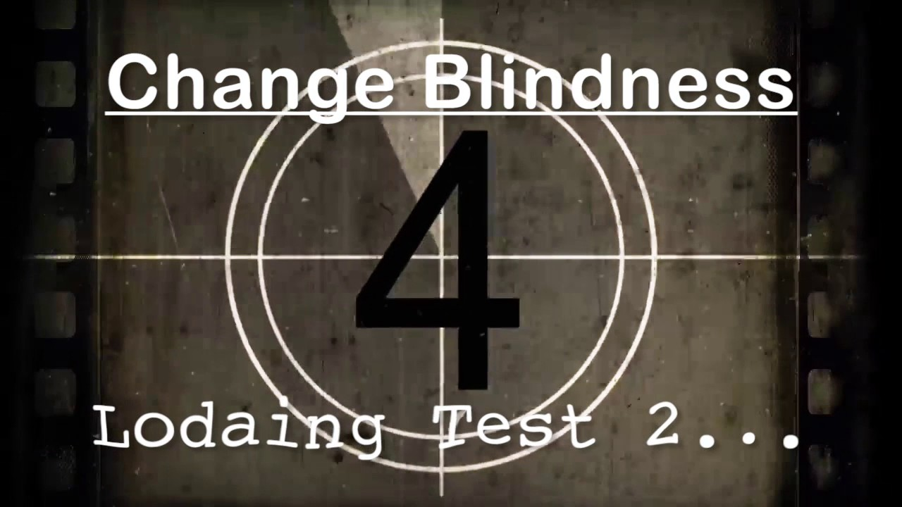 change blindness is an example of _____