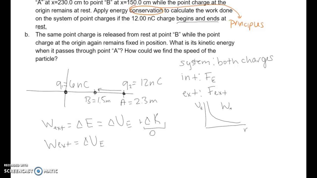 give an example of electrical potential energy