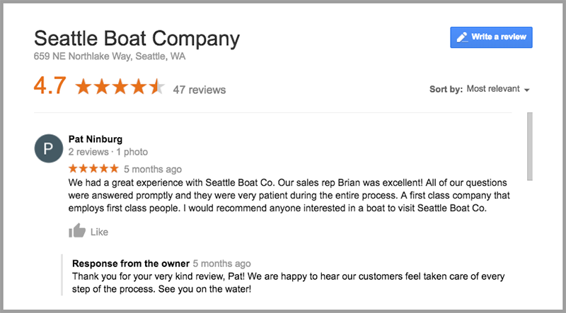 example of 5 star review