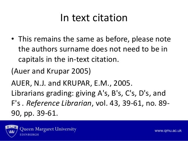 example of text with harvard referencing