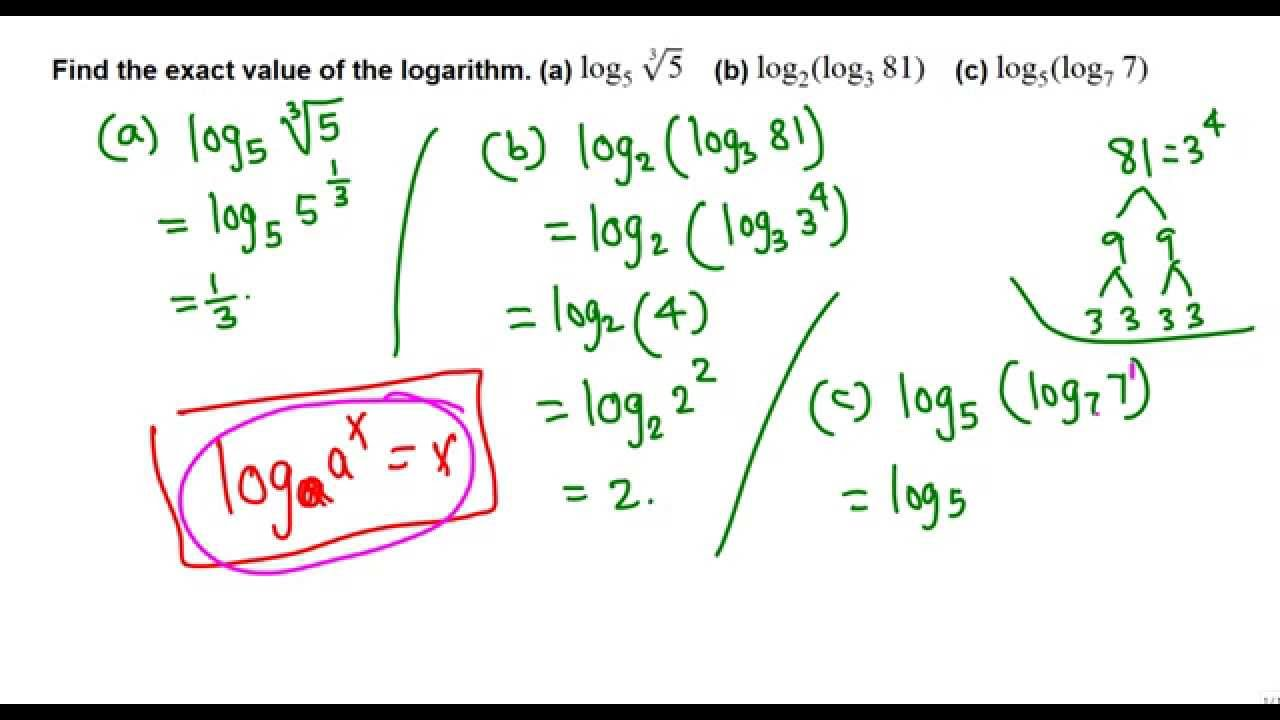 example solutions for log book method